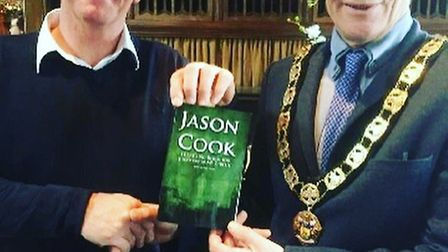 Jason Cook with Mayor of Hertsmere Pete Rutledge.