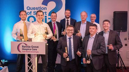 Winners of the Rennie Grove Question of Sport dinner - photo by Andrew Price Photography.
