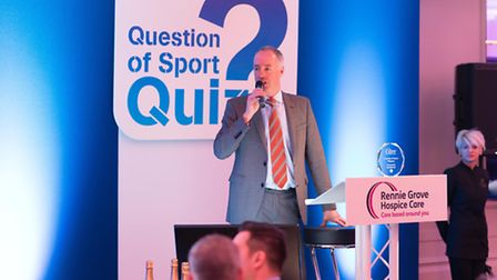 Mark Bunting at the Rennie Grove Question of Sport dinner - photo by Andrew Price Photography.