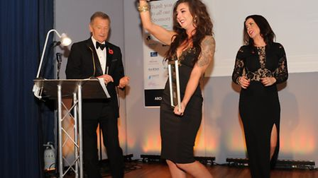 Hunts Post Business Awards 2015, joint winner of Employee Of The Year, Jessica Morris, Le Mark Group