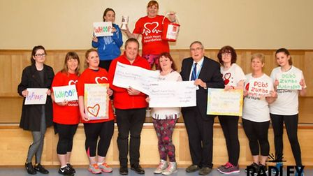 Papworth Hospital and the British Heart Foundation receive funds raised by Debs Zumba groups.