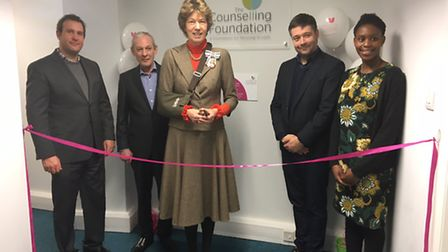 Lady Verulam opening the refurbished counselling centre. Supplied by The Counselling Foundation.