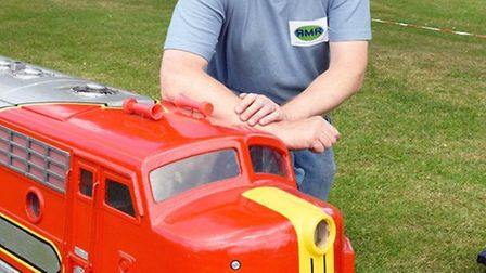 Ivan Hewlett hopes to open the model railway at Easter