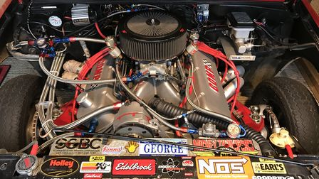 The engine inside the 1984 Chevrolet S10 Truck