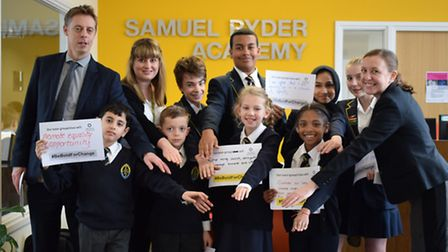 Samuel Ryder Academy students with their pledges to gender equality