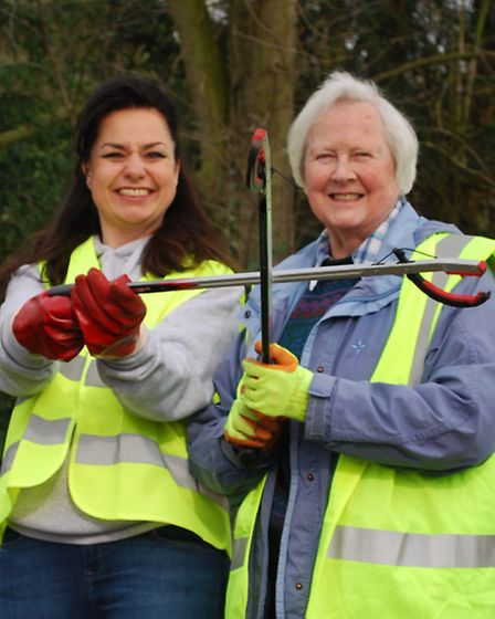 South Cambridgeshire MP Heidi Allen and South Cambs District Councillor Cicely Murfitt who helped wi