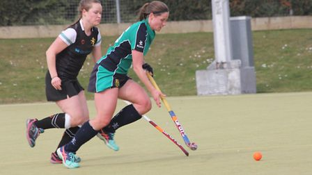 Shelley Read of St Ives Ladies 1sts in their win against Haverhill.