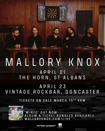 Mallory Knox will be appearing at The Horn in St Albans