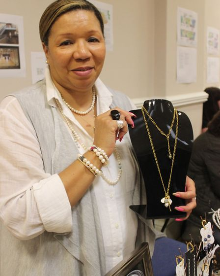 Wilma Goss, of Goss Jewellery, at Huntingdon Spring Craft and Vintage Fair, Commemoration Hall,