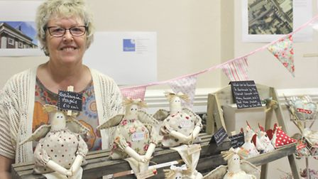 Sharon Tyrrell, of I am Simply Different, at Huntingdon Spring Craft and Vintage Fair, Commemoration