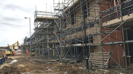 Work progressing at Chequers Court, in Huntingdon