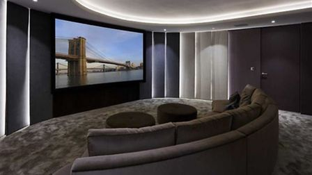Cheryl won't miss her home cinema too much - Liam has one too (Credit: RightMove)