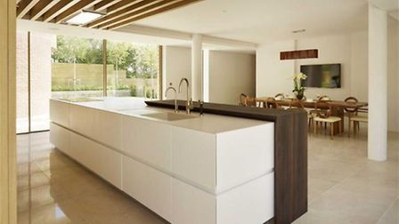 The kitchen has an in-built wine cooler as well as the usual amenities (Credit: RightMove)