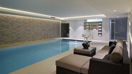 No celeb home is complete without its own pool (Credit: RightMove)