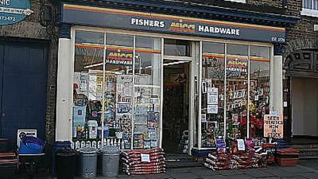 The Fishers hardware shop in St Neots