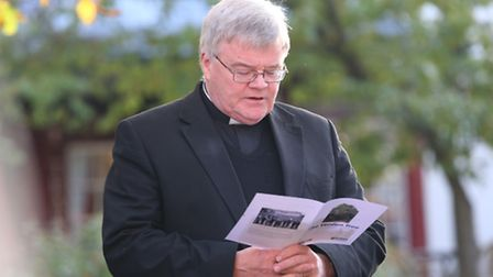 The Very Reverend Dr Jeffrey John reads a prayer at the 100 year commemoration of the Battle of Verd