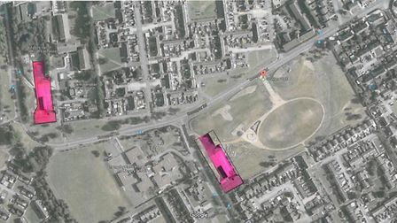 The Medway Centre site portrayed on the site of Coneygear Park