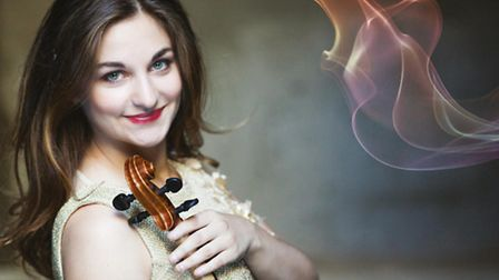 Alexandra Soumm played with the Philharmonia Orchestra at Cambridge Corn Exchange