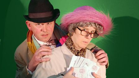 Mark Bundy playing Professor Marcus and Kim Wedler as Mrs Wilberforce in Radlett Players' forthcomin