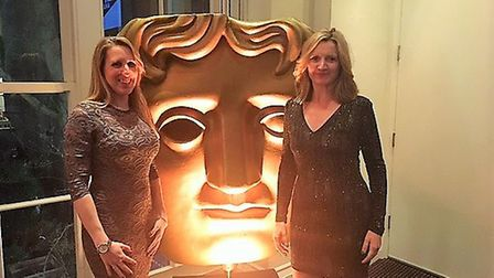 Suzy Moody and Sue Wybrown at Charity Film Awards.