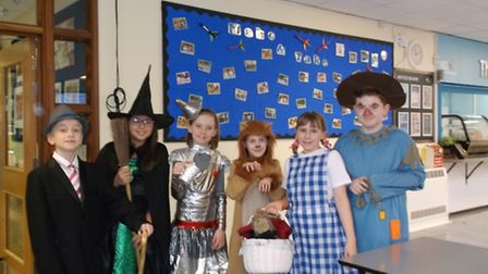 Roysia Middle School students and staff dress up for World Book Day.