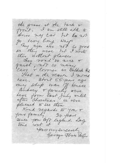 Letter from George to Guido