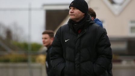 Royston Town FC manager Steve Castle.
