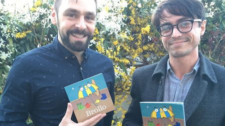 Tom Sparke and Gavin Clayton with their new book, Brollo. Picture: Lucy Sparke.