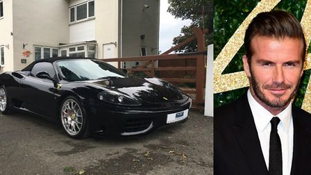 David Beckham's former motor, a Ferrari 360 spider is going up for sale at IWM Duxford tomorrow. Lef