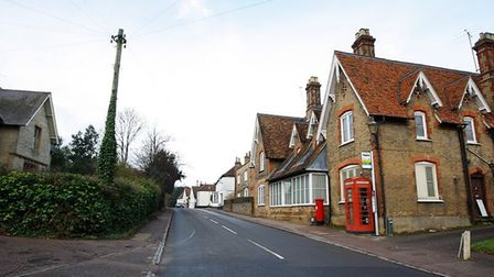 The village boasts a traditional red phone box on its high street