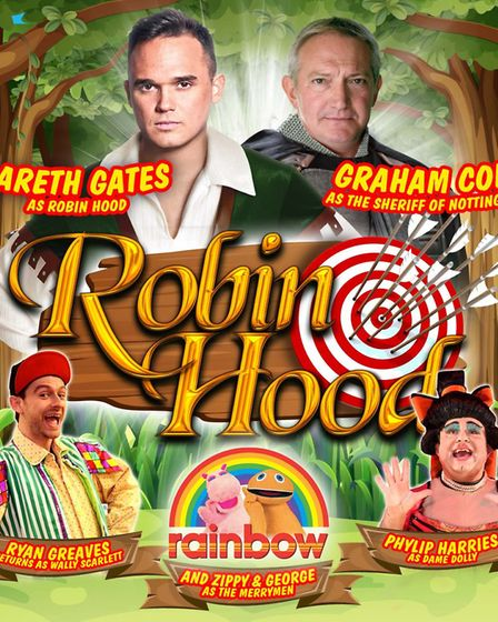 Robin Hood starring Gareth Gates is the Easter pantomime at The Alban Arena in St Albans