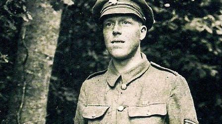 Sgt Billingham in his uniform. Supplied by Gill Maud.