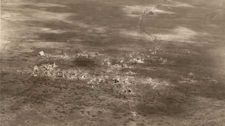 Aerial photo of Bullecourt from 1917.