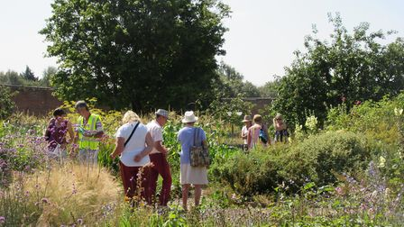 Visitors to the Luton Hoo estate walled garden