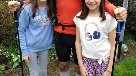 Mark Spitzer with daughters Isabel, 11, and Clara, nine.