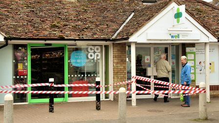 There have been two break-ins in two days at the Melbourn Co-op in High Street. Picture: Clive Porte