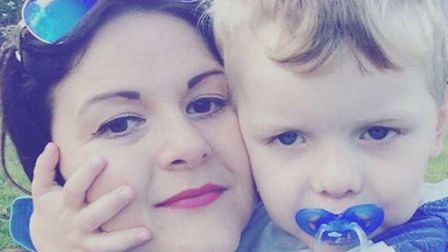 Lynette Tully with son Freddie, who has an inoperable brain tumour.