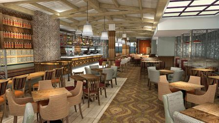 An artist's impression of the new JD Wetherspoon pub in St Ives