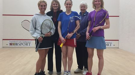Left to right: Debbie Thain, Lynne Hays, Sam Pluck, Frances Smith, Helen Tipping. Not pictured: Kate