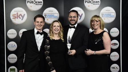 (L-R) Edward Walsh, Lily Charity, Kevin Charity, and Kelly Butler from The Coaching Inn Group