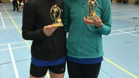 Wendy Walsh was second female v45 at the Sandy 10 with Deidre Heydecker second female v55. Picture b
