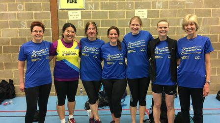 St Albans Striders at the Sandy 10. Picture by Michelle Martin