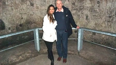 Nia Peeples and James Robinson at Royston Cave.