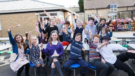 Melbourn Primary School pupils enjoying their VE Day celebrations. Picture: Sharon Cooper