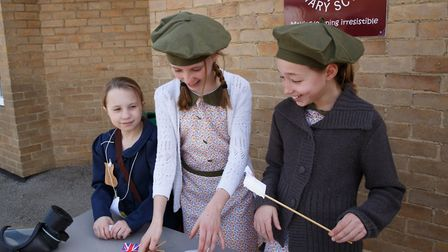 Melbourn Primary School pupils enjoyed dressing up in war-time outfits. Picture: Sharon Cooper