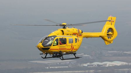 The East Anglian Air Ambulance. Library image