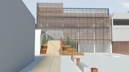 Plans for the new building at the Maltings.
