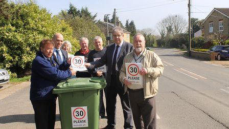 New venture between Community Roadwatch and Mick George will see residents put speed signs on bins