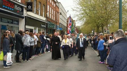 The annual St Albans Scouts' St George's Day Parade. Credit: Alan Meeks