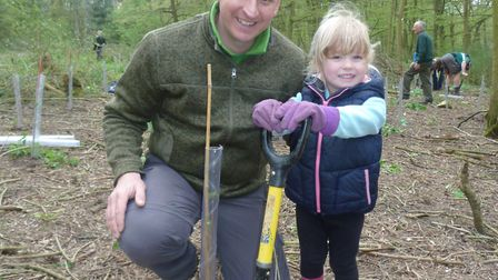 Mike and Eloise Drew at the tree-planting event.